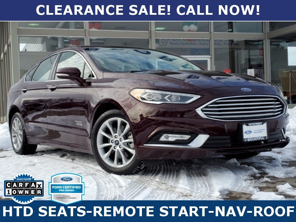 Ford Certified Pre Owned >> Certified Pre Owned 2017 Ford Fusion Energi Titanium Fwd 4dr Car